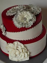 red and white classy cake cakecentral com