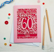 birthday cards personalised papercut flower birthday card by pogofandango