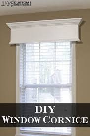 How To Make Window Cornice Easy Diy Window Cornice Jays Custom Creations