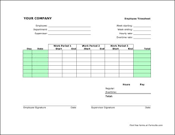 Hourly Timesheet Template Excel Free Weekly Timesheet Landcape From Formville