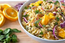 citrus herb orzo salad