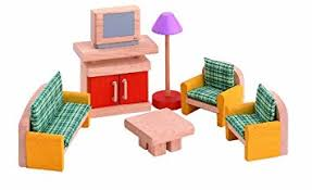 amazon com plan toys dollhouse furniture neo living room toys