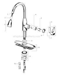 american standard kitchen faucets repair american standard 4175 300 parts list and diagram
