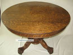 table archaiccomely pedestal table 2 dining tiger oak antique