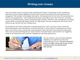 Relevant Experience Resume Examples by Management Consulting Resume Sample