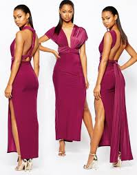 image 2 of boohoo multi way strappy slinky maxi dress ball