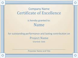 certificate of employee excellence template for powerpoint 2013
