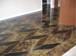 scoring and staining concrete for geometric designs concrete decor