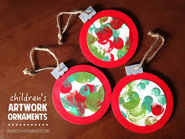 stayathomeartist children s artwork ornaments
