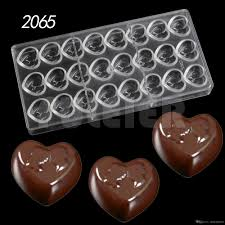 chocolate for s day 2018 bakeware tools heart shape chocolate polycarbonate mould
