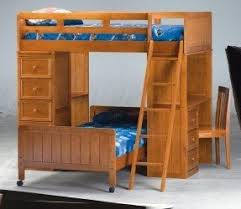 attractive loft bunk beds with desk and drawers m17 for your home