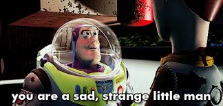 Buzz Lightyear And Woody Meme - you re a sad sad little man buzz lightyear to woody in toy story