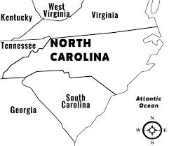 Nc State Map North Carolina Road Map Free State Maps Massachusetts South