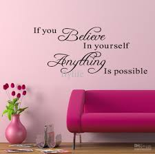 if you believe in yourself everything is possible vinyl wall if you believe in yourself everything is possible vinyl wall lettering stickers inspirational quotes sayings art homeroom wall decor decals tree wall