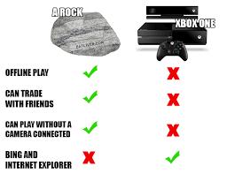 Xbox One Meme - rock vs xbox one broadsheet ie