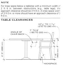 Table Kitchen Heights Danbury Height And Width Different Standards - Kitchen table height
