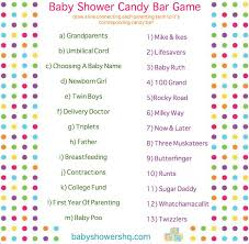 Free Baby Shower Scramble Games - candy bar baby shower game free printable candy bar shower game