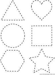 tracing shapes free preschool pinterest tracing shapes