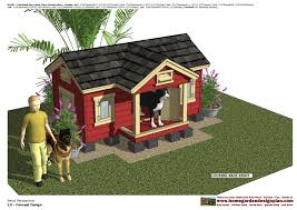 home garden plans dh302 insulated dog house plans dog house
