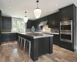 Dark Cabinets Grey Countertops And Light Wood Floors Favorite - Kitchen photos dark cabinets