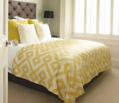 bedroom colorful western bedding bright yellow cover polka dot