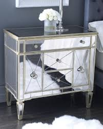 Mirrored Dressers And Nightstands Amazing Amelie Mirrored Nightstand 99 On Modern House With Amelie
