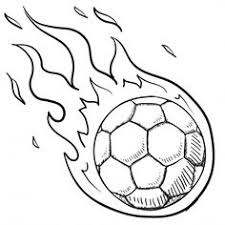 Soccer Coloring Pages Ball In Fire Coloringstar Soccer Coloring Page