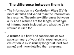 Whats The Difference Between Cv And Resume 15 Difference Cv Resume How To Build Your Business And Passive