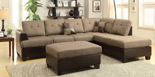 Sectional Sofa With Ottoman 3 Piece Sectional Sofa With Reversible Chaise And Ottoman Home