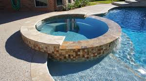inground spa with spillway to pool spas pinterest tubs