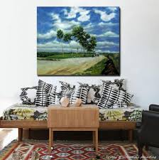 hand paited country roads oil paintings landscape picture canvas