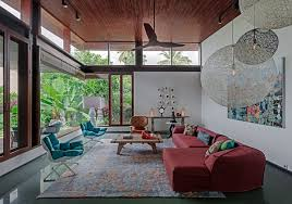 Colorful Furniture by House 1058 Series Of Cantilevered Roofs And Gardens Offers