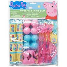 peppa pig party supplies peppa pig party favor pack value pack party supplies walmart