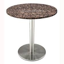 round granite table top baltic brown granite table top 30 on stainless steel 18 round base