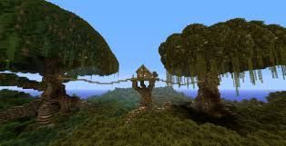 minecraft tree houe with two trees d minecraft project