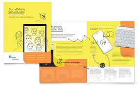 technical brochure template social media consultant brochure template design
