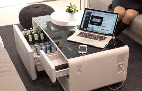 smart coffee table fridge sobro is a smart coffee table with a built in fridge fatherly