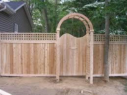 arbor fence wood fences