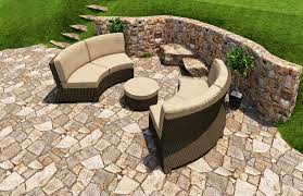 Curved Patio Furniture Set - unique curved outdoor sofa decorating curved outdoor sofa