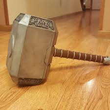 free life size thor s hammer mjolnir 3d model cults