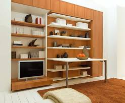 lgm swiviel wall bed with office desk and shelves