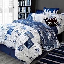Blue Bed Set Amazon Com Bed Lam Passport Blue Paris London Queen Full Duvet