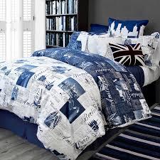 com bed lam passport blue paris london queen full duvet cover set cotton home kitchen