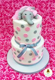 baby shower candy bar elephant cake pink grey elephant baby shower