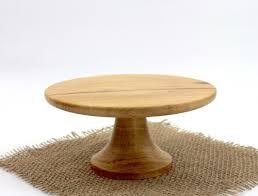 Wood Pedestal Stand Wooden Pecan Pedestal Cake Stand Dessert Platter Cupcake Stand