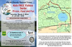 Florida Interstate Map by Kids Free Fishing Derby Florida Youth Conservation Centers Network