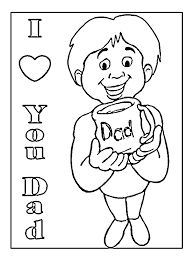 love dad coloring pages father u0027s coloring pages