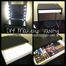 Makeup Vanity Table With Lights From Bare To Bold Diy Makeup Vanity On A Budget Diy Pinterest