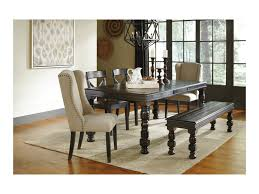 Pine Dining Room Set by Signature Design By Ashley Gerlane 6 Piece Solid Pine Dining Table
