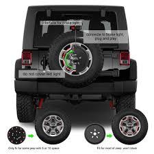 High Mount Brake Light Third Brake Light U0026 Spare Tire Light Ring For Jeep Wrangler Jk